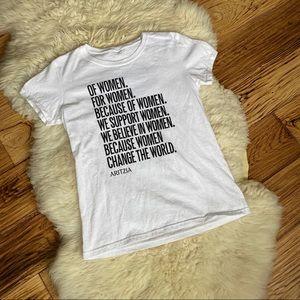 Aritzia International Women's Day White T-shirt XS